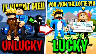 UNLUCKY DAY vs LUCKY DAY in Roblox BROOKHAVEN RP!!