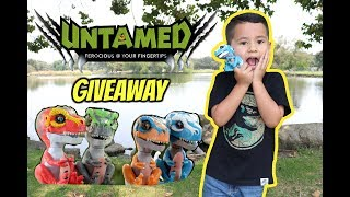 UNTAMED fingerlings T-REX dinosaur unboxing, Untamed T-REX GIVEAWAY