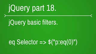 Eq Selector In Jquery - YT