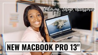 MacBook Pro 13 2020 UNBOXING + Setup, Initial Impressions, & Accessories