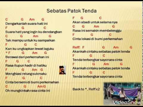 SEBATAS PATOK TENDA / SAYONARA CINTA DENGAN CHORD (COVER)