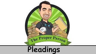 Legal Nuts And Bolts: Pleadings