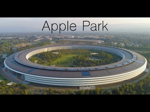 APPLE PARK Late August 2018 Drone Update