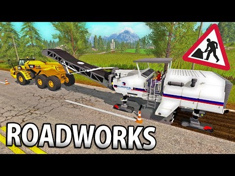 ROADWORKS IN FARMING SIMULATOR 17 | SAND & GRAVEL