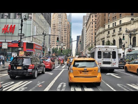 Driving Downtown - Americas Avenue - New York City NY USA