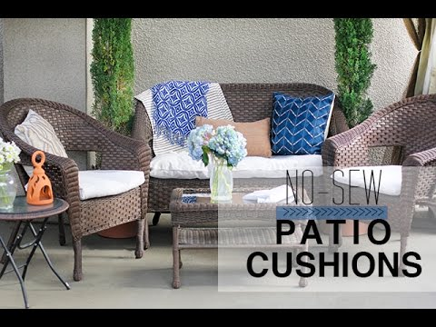 No Sew Patio Cushion Covers   YouTube