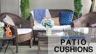 No-Sew Patio Cushion Covers