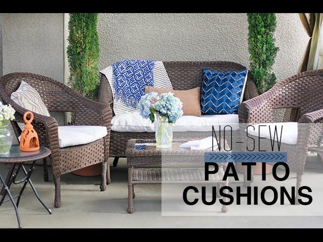 no sew patio cushion covers youtube