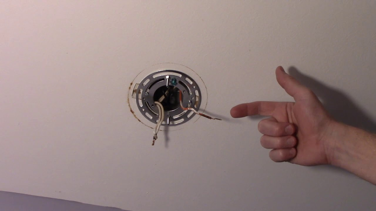 Installing A Ceiling Light Conduit No Ground Wire Youtube