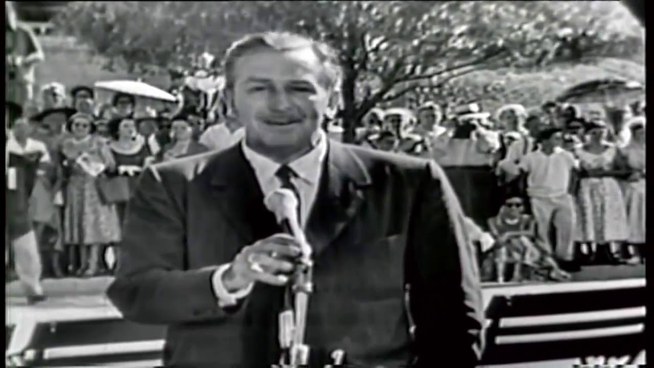 Walt Disney's Opening Day Speech - Disneyland 1955 - YouTube