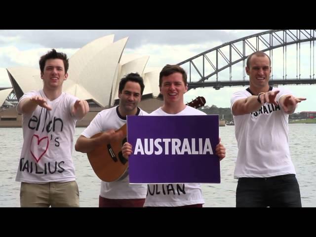 Aussie Lesson For Ellen (by Fitzy & Wippa with Dailius & Julian Wilson)