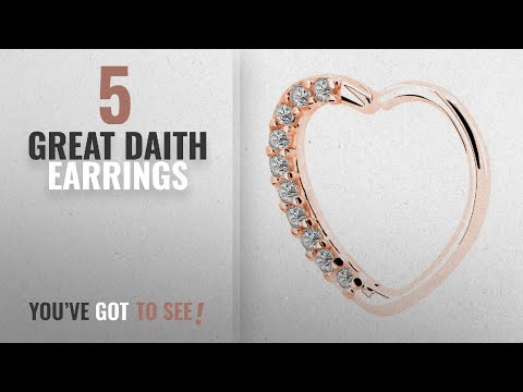 10 Best Daith Earrings [2018]: OUFER Body Piercing Jewelry Heart Sharped Right Closure Daith