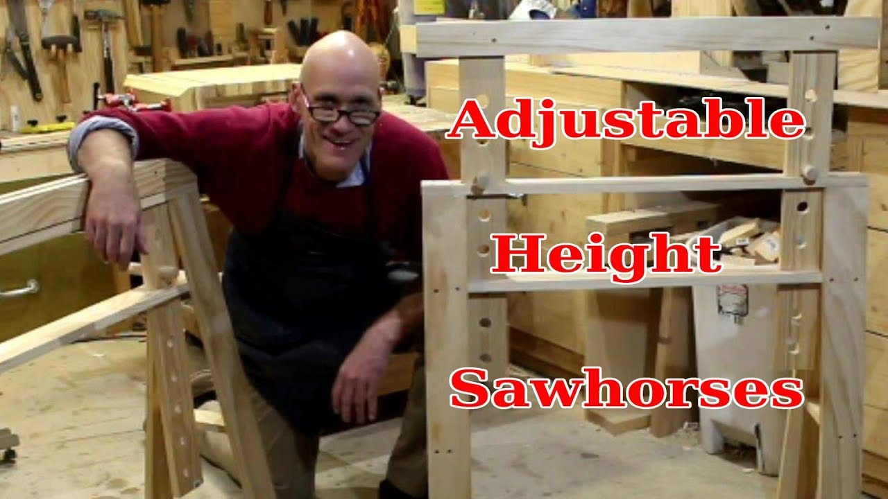 Exceptionnel How To Make Adjustable Height SawHorses