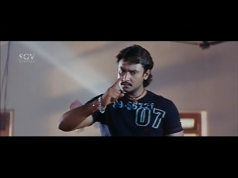 Darshan Follows Rowdies For Clicking Girls Belly Photos | Action Scenes In Kannada Movies