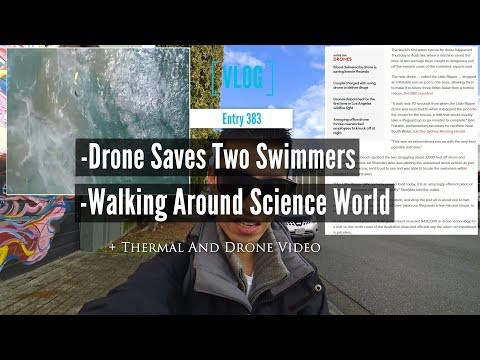 Drone Saves Swimmers World First With Science World Thermal And Drone Video