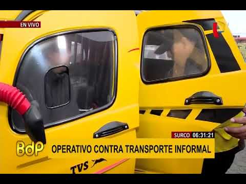 Surco: Realizan Operativo Contra Mototaxis Informales
