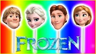 frozen disney elsa anna hans kristoff olaf finger family nursery rhymes lyrics kids songs