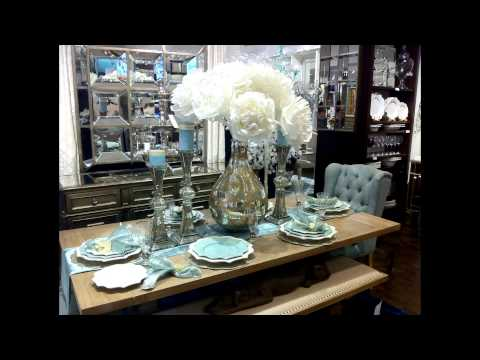 NEW VIDEO:Tour of Z Gallerie Spring Table Settings