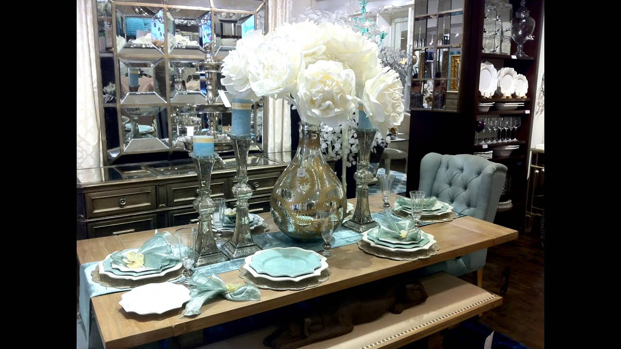 New Video Tour Of Z Gallerie Spring Table Settings Youtube