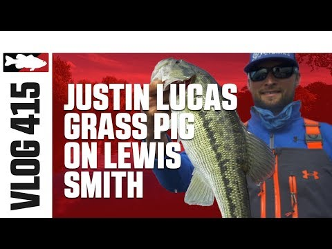 Justin Lucas Fishing the Berkley Havoc Bobby Lane's Grass Pig Swimbait on Smith Lake - TW VLOG #415