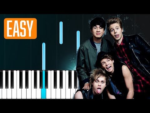 5 Seconds Of Summer  Want You Back 100% EASY PIANO TUTORIAL