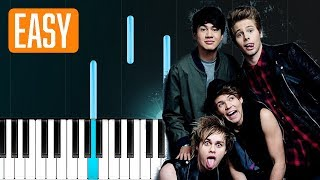 "5 Seconds Of Summer - ""Want You Back"" 100% EASY PIANO TUTORIAL"
