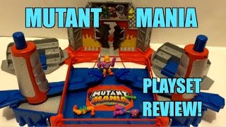GTS ACTION INSIDER: Mutant Mania Rampage Arena Wrestling Figure Ring Review! Moose Toys