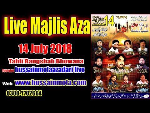 Live 10th Majlis e aza 14 july 2018 Tahli RangShah Bhowana (Chiniot) Bani:M.Taqi Qureshi