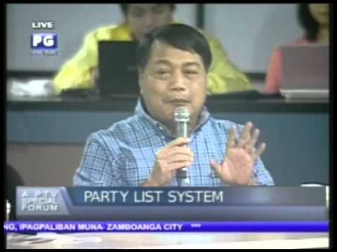 Part 1. PTV4:Special Forum - Party-list System (October 12, 2012)