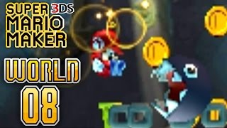 Super Mario Maker 3DS - Super Mario Challenge - World 8