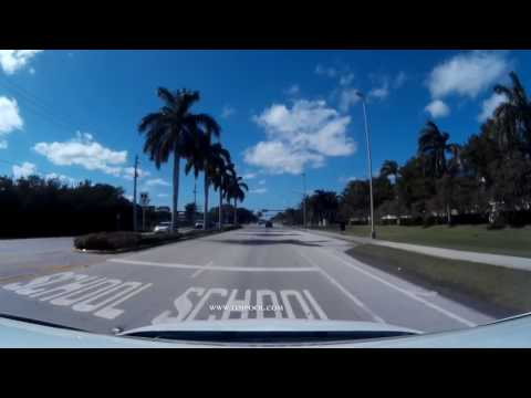 Driving Hollywood Beach A1A US1 Young Circle Dania Beach