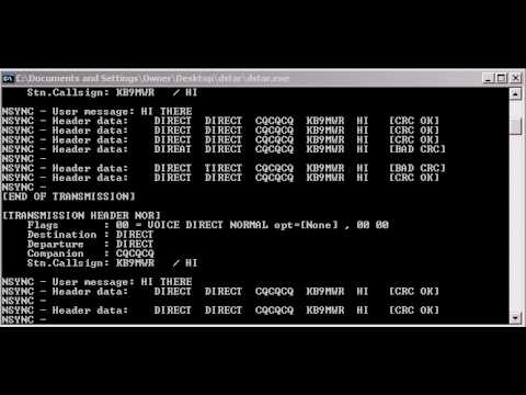 Jakub Hruska's D-Star Decoder Program