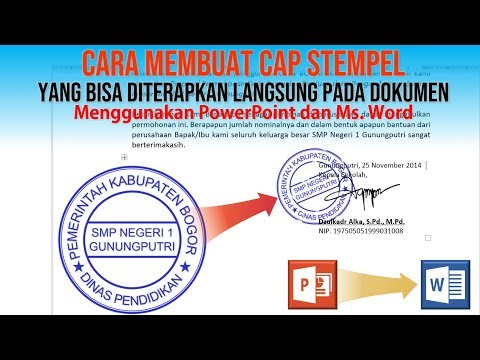 Cara Membuat Cap Stempel Dengan PowerPoint