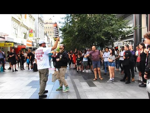 Adelaide AWAKES From Apathy - Street Preaching in Australia - Kerrigan Skelly
