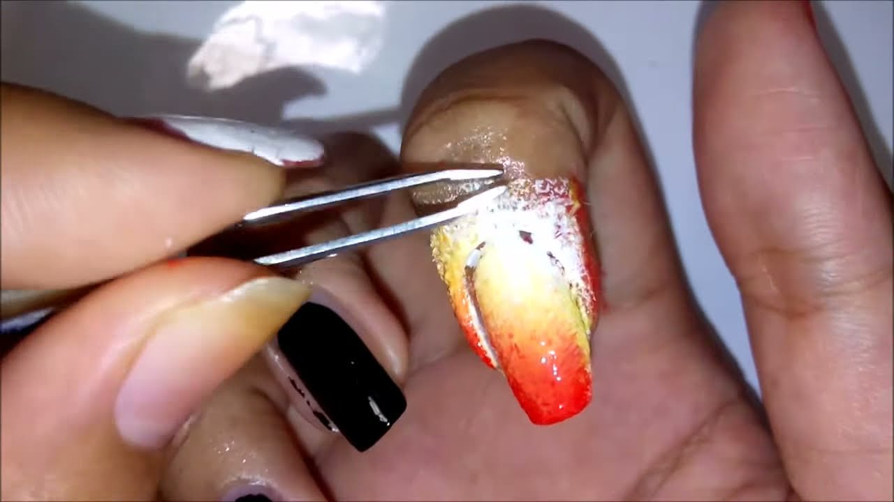 Bts Fire Nails Nail Art Tutorial Youtube