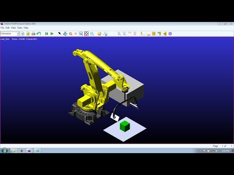 Robotic System Simulation in ADAMS! Tutorial of Pick and Place Robot