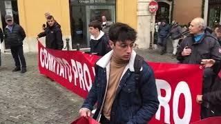 La protesta a Roma sulla sanità pubblica