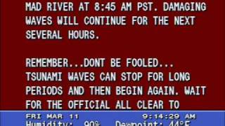 Tsunami Warning - Crescent City, California