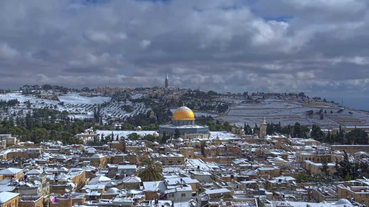 Snow in Jerusalem 2013