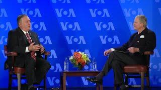 国务卿蓬佩奥在美国之音总部发表讲话 - YouTube