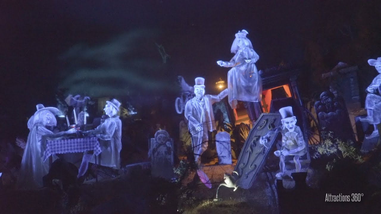 Tokyo Disneyland Haunted Mansion 2016 Onride Youtube