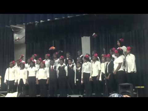 Beautiful Song!!!  John Hanson Middle School Choir - Sanctus