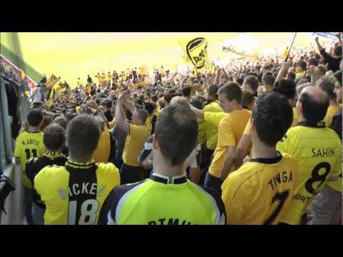 Mainz 05 - Borussia Dortmund Torjubel 1-1 BVB Fans Auswärtssieg
