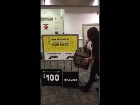 Spirit Airlines Video Free Personal Item Bag Youtube