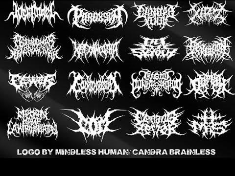 drawing brutal death metal logo 2014 part i youtube rh youtube com death metal band logo generator death metal logo generator free