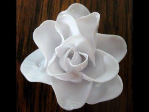Flores con cucharas de pl stico youtube - Flores de plastico ...