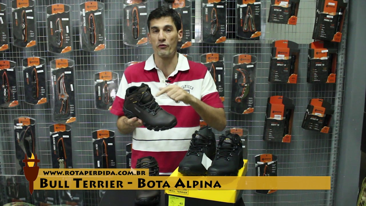 7bf6e60285 Bota Bull Terrier Alpina 100% Impermeável - Rota Extrema - YouTube