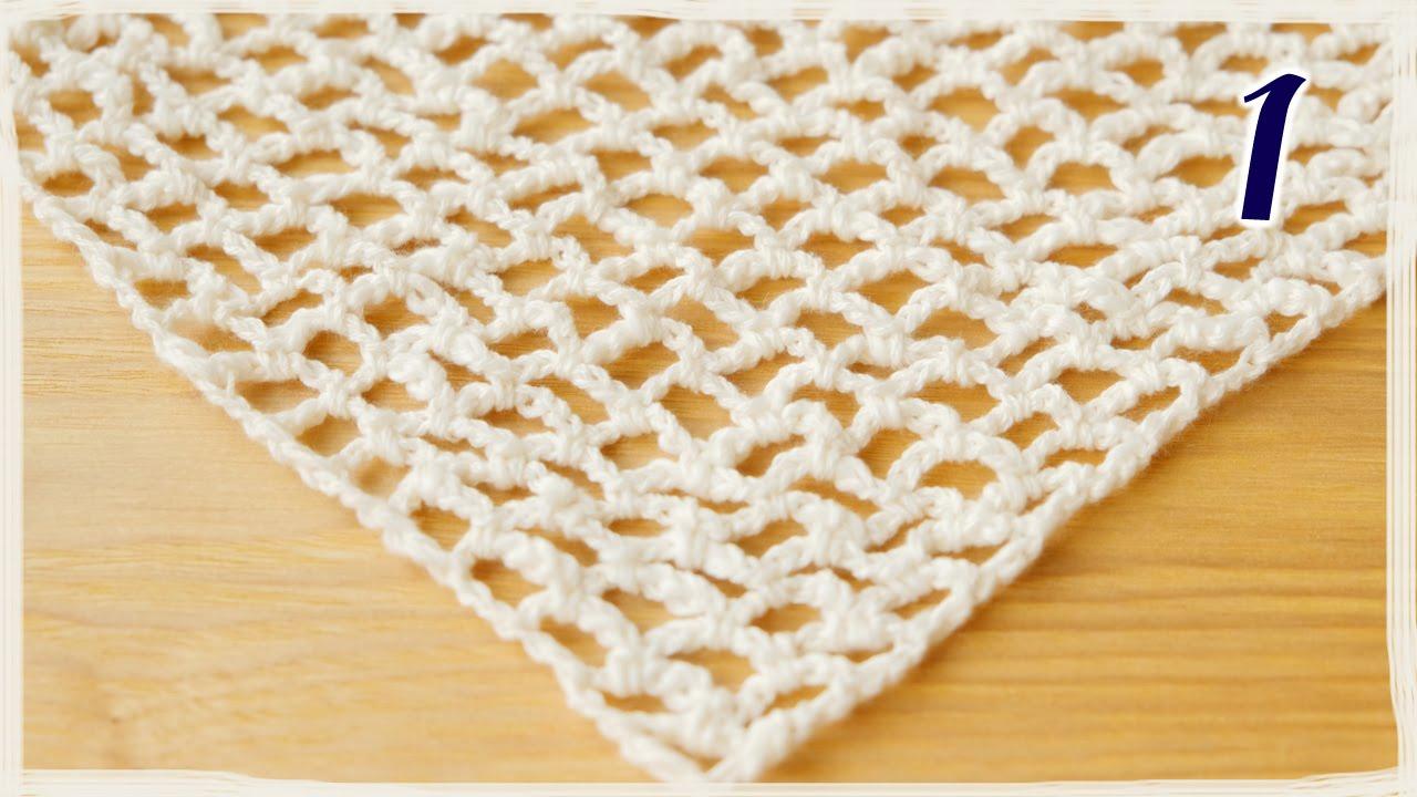 ショール 編み 図 三角