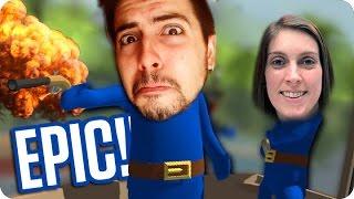 ¡DOS IDIOTAS Y UNA APUESTA! | Stupid Raft Battle Simulator con Sara