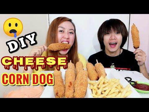 DIY KOREAN CHEESE CORN DOG + FRIES MUKBANG | PHILIPPINES | JOE SERATA